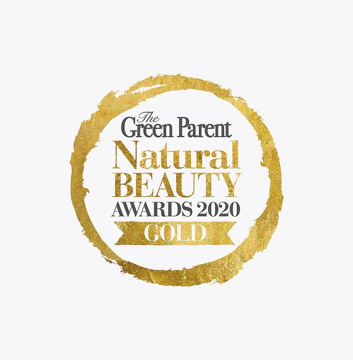 Green Parent Natural Beauty Awards Gold Winner 2020.