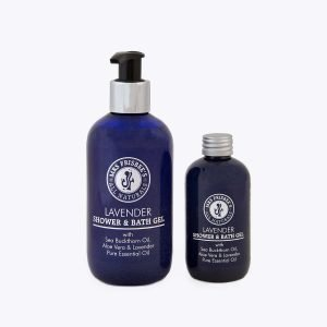 Lavender Shower Gel 100ml and 250ml, with sea buckthorn oil, aloe vera and lavender pure essential oil.