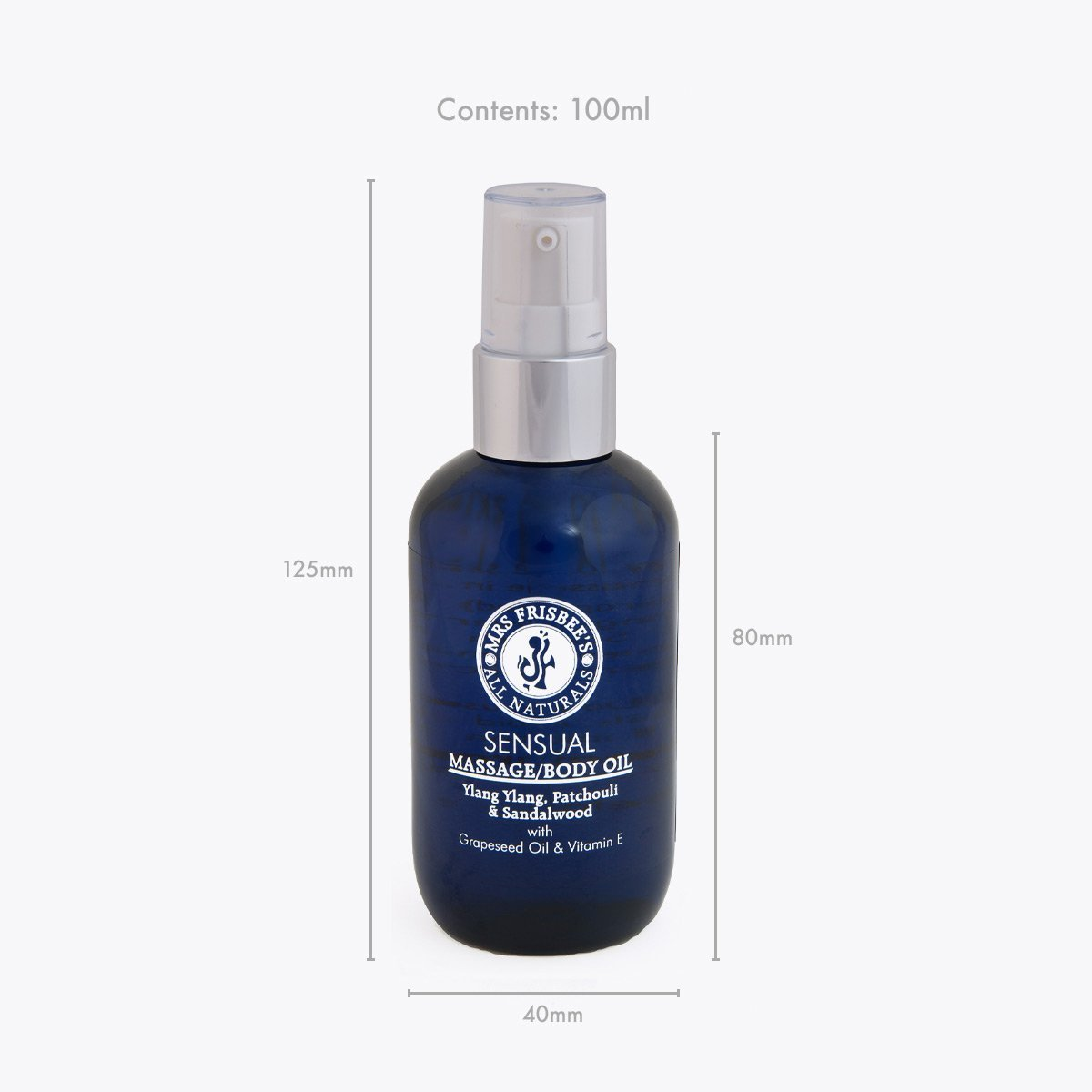 Sensual Massage Oil bottle measurements