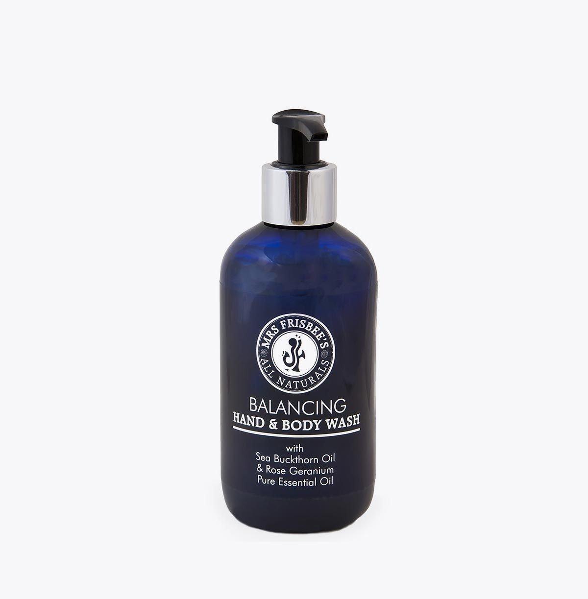Rose Geranium Hand and Body Wash with aloe vera, sea buckthorn and rose geranium pure essential oil.