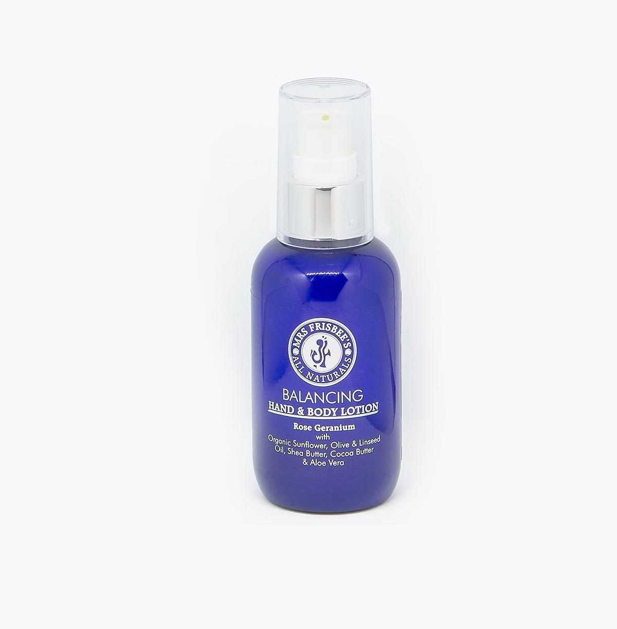 Organic aromatherapy lotion with rose geranium pure essential oil, 100ml.