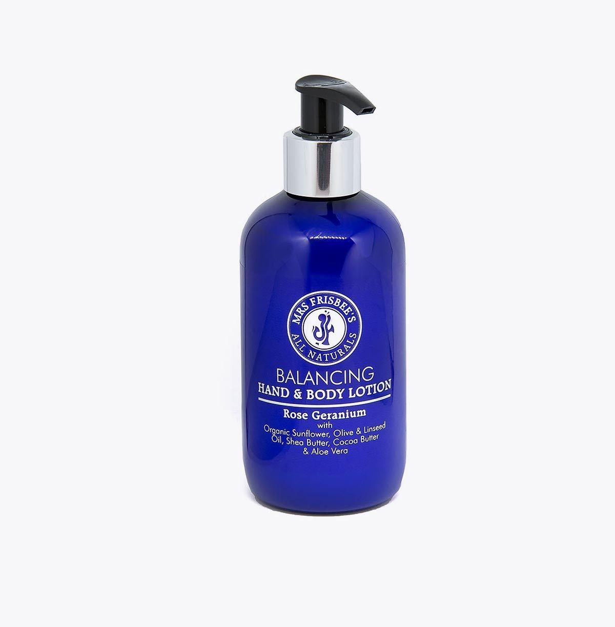 Organic aromatherapy lotion with rose geranium pure essential oil.