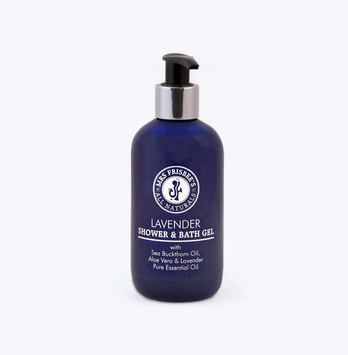 Lavender Shower Gel 250ml, with sea buckthorn oil, aloe vera and lavender pure essential oil.