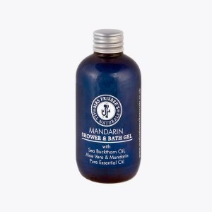 Mandarin Shower Gel with Sea Buckthorn Oil, Aloe Vera and Mandarin Pure Essential Oil.