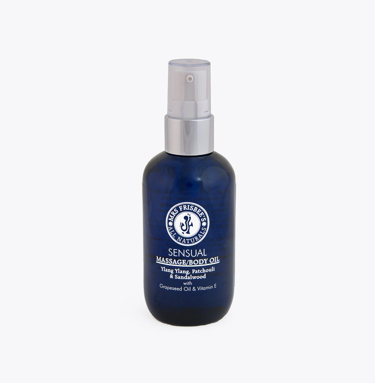 Sensual Massage Oil with Ylang Ylang, Patchouli and Sandalwood Pure Essential Oils.