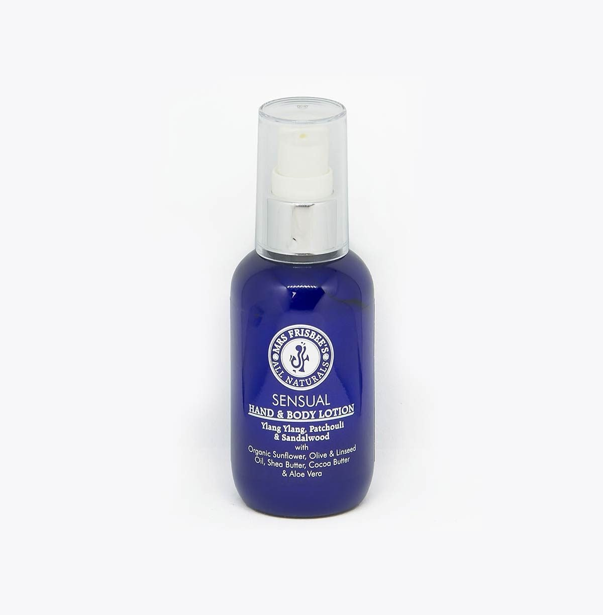Sensual Body Lotion with Ylang Ylang, Patchouli and Sandalwood essential oils.