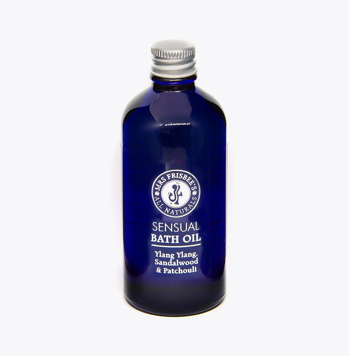 Sensual Bath Oil in recyclable glass bottle